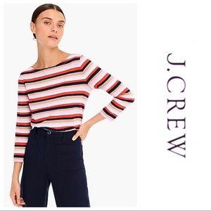 NWT J. Crew Striped Boat Neck T-Shirt